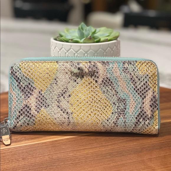 Cole Haan Rainbow Snakeskin Wallet